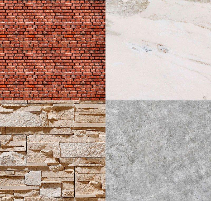 Варианты оформления под камень
