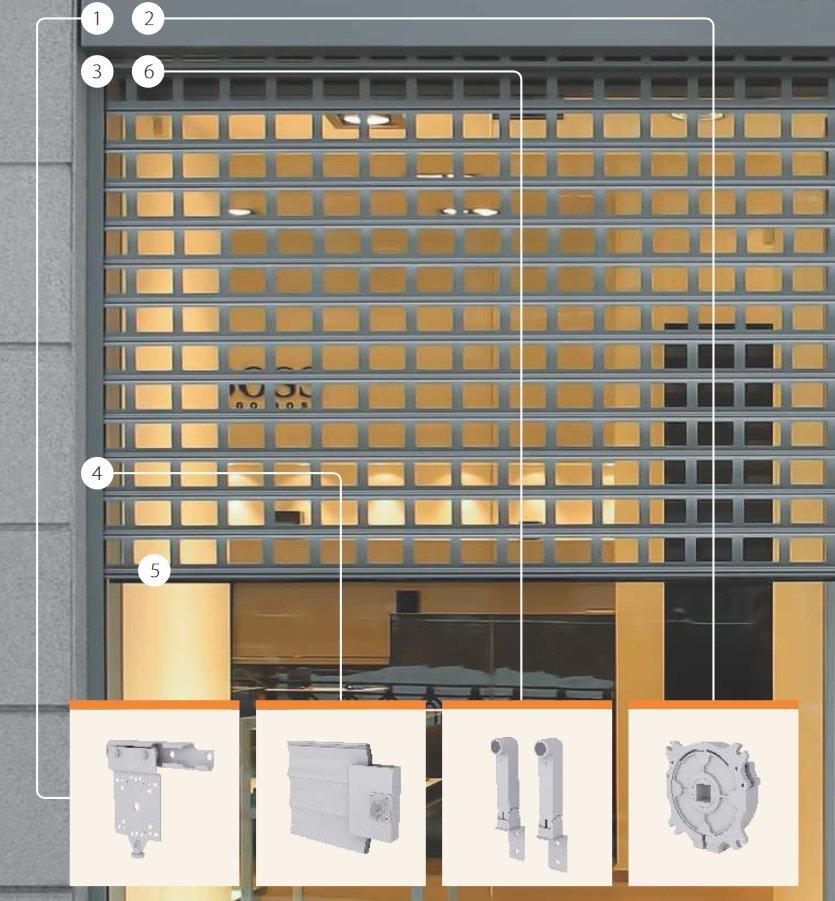 Конструкция роллетной решетки Security